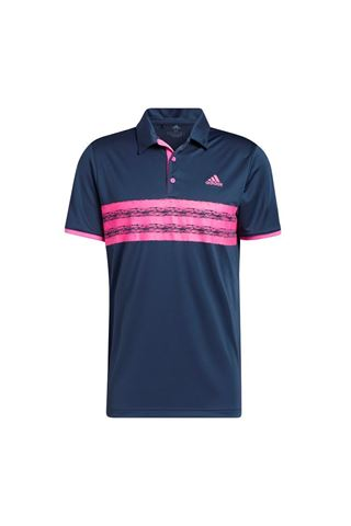Picture of adidas Men's Core Polo Shirt - Crew Navy / Screaming Pink