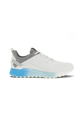 Show details for Ecco Golf Men's S-Three Golf Shoes - White / Blue