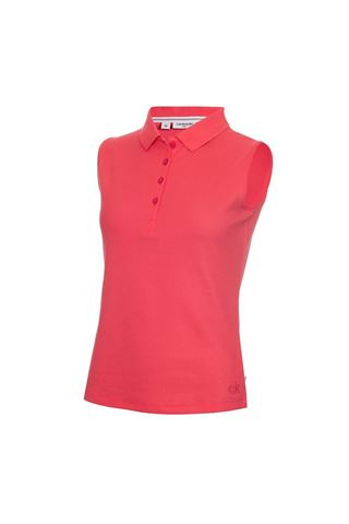 Picture of Calvin Klein Ladies Performance Sleeveless Pique Polo Shirt - Jete