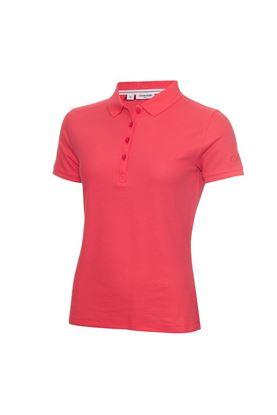 Show details for Calvin Klein Ladies Performance Pique Polo Shirt - Jete