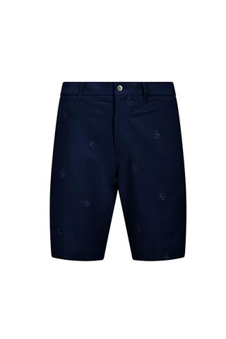Picture of Original Penguin Men's All Over Pete Embroided Shorts - Black Iris
