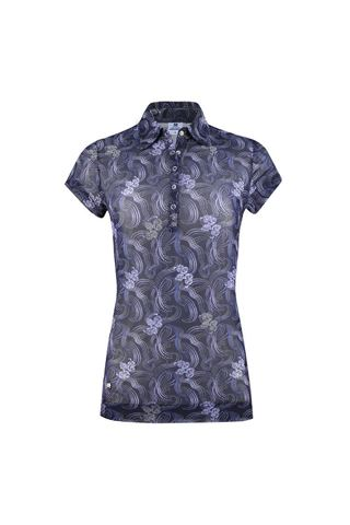 Picture of Daily Sports Ladies Luisa Short Sleeved Mesh Polo Shirt - Dark Navy