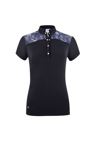 Picture of Daily Sports Ladies Sigrid Short Sleeve Polo Shirt - Navy