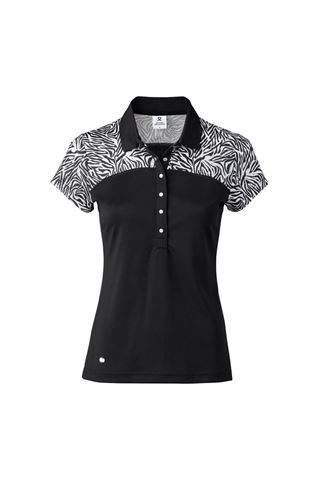 Picture of Daily Sports Ladies Zilian Short Sleeve Cap Polo Shirt - Black