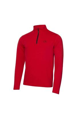 Show details for Calvin Klein Men's Newport Premium 1/2 Zip Top - Power Red Marl