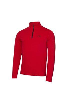 Show details for Calvin Klein Men's Newport Premium 1/2 Zip Top - Power Red Marl