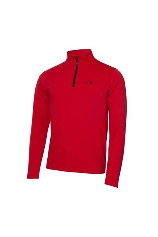 Picture of Calvin Klein Men's Newport Premium 1/2 Zip Top - Power Red Marl