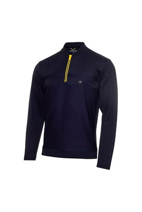 Show details for Calvin Klein Men's Braid Half Zip Sweater - Navy