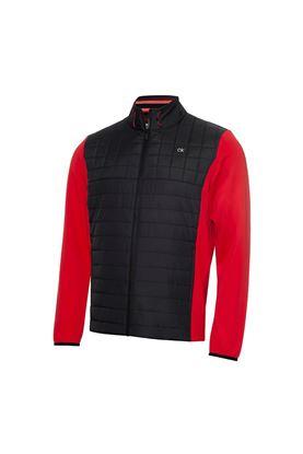 Show details for Calvin Klein Men's Vardon Hybrid Jacket - Power Red / Black