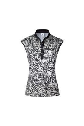Show details for Daily Sports Ladies Tiana Cap Sleeveless Polo Shirt - Black