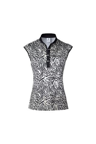 Picture of Daily Sports Ladies Tiana Cap Sleeveless Polo Shirt - Black