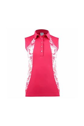 Show details for Daily Sports Ladies Adelina Sleeveless Polo Shirt - Fruit Punch