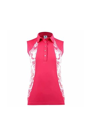 Picture of Daily Sports Ladies Adelina Sleeveless Polo Shirt - Fruit Punch