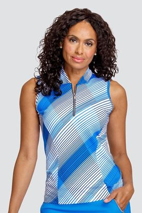 Show details for Tail Ladies Norma Sleeveless Top - Accent Pacific