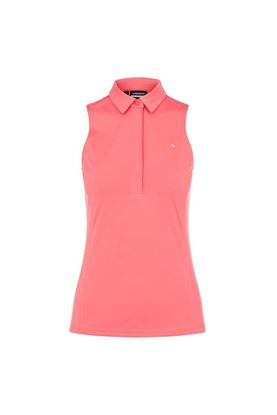 Show details for J Lindeberg Ladies Dena Sleeveless Golf Top - Tropical Coral