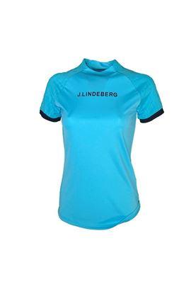 Show details for J.Lindeberg Ladies Megan Golf Top - Beach Blue