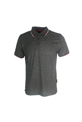 Show details for Abacus Men's Hamilton Polo Shirt - Dark Grey Melange