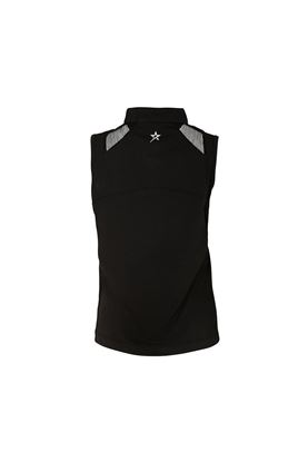 Show details for Swing out Sister Ladies Thalia Zip Sleeveless Polo Shirt - Black