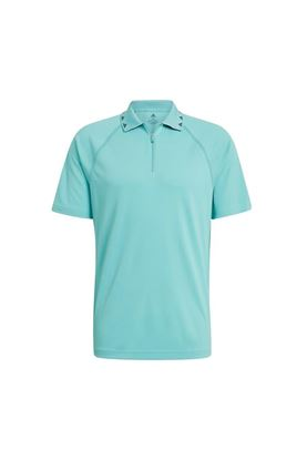 Show details for adidas Men's Equipment Zip Polo Shirt - Acid Mint