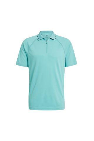 Picture of adidas Men's Equipment Zip Polo Shirt - Acid Mint