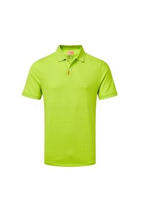 Show details for Nike Golf Men's Space Dot Slim Fit Polo Shirt - Lime 389