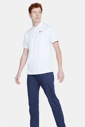 Show details for Nike Golf Men's Dri-Fit Victory Print Polo Shirt - White 100