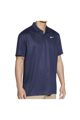 Show details for Nike Golf Men's Dri-Fit Victory Print Polo Shirt - Midnight Blue