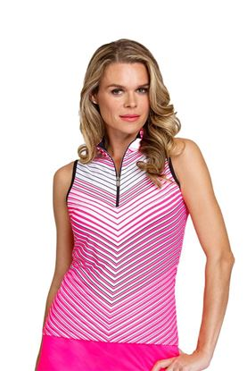 Show details for Tail Ladies Fannie Sleeveless Top - Ombre Chevron