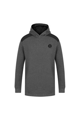 Show details for Island Green Men's Hooded Sweater - Charcoal Marl / Black