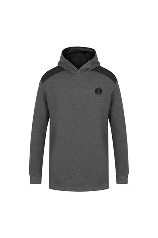 Picture of Island Green Men's Hooded Sweater - Charcoal Marl / Black