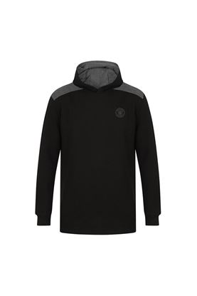 Show details for Island Green Men's Hooded Sweater - Black / Charcoal Marl