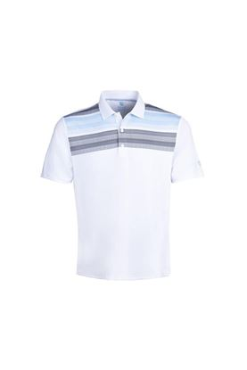 Show details for Island Green Men's Matrix Print Polo Shirt - White / Charcoal / Sky / Black
