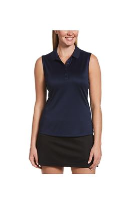 Show details for Callaway Ladies Sleeveless Knit Polo Shirt - Peacoat