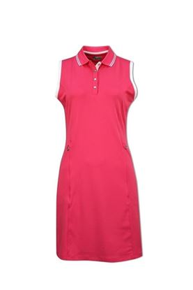 Show details for Callaway Ladies Golf Dress with Ribbed Tipping - Raspberry Sorbet