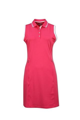 Picture of Callaway Ladies Golf Dress with Ribbed Tipping - Raspberry Sorbet