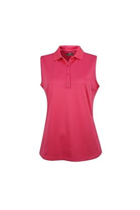 Show details for Callaway Ladies Sleeveless Knit Polo Shirt - Raspberry Sorbet