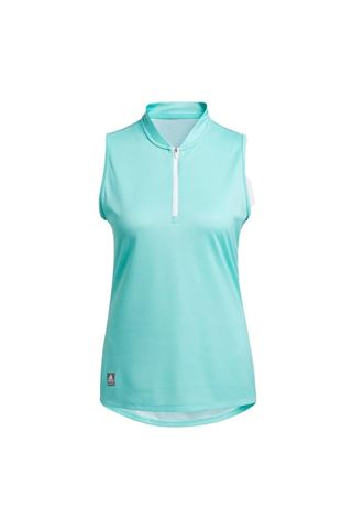 Picture of adidas Women's  Equipment Sleeveless Polo Shirt - Acid Mint