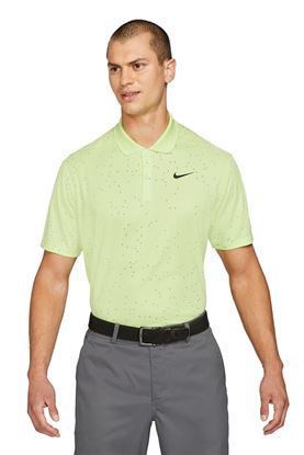 Show details for Nike Golf Men's Dri - Fit Victory Print Polo Shirt - Light Lemon Twist 736
