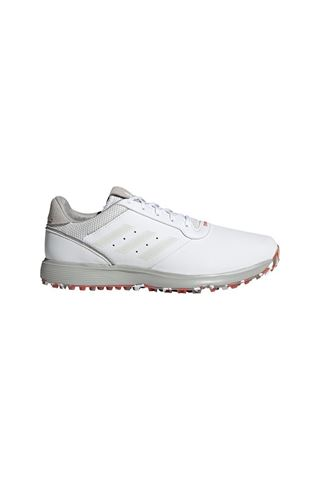 Picture of adidas Men's S2G Spikeless Leather Golf Shoes - Cloud White / Grey One / Crew Red