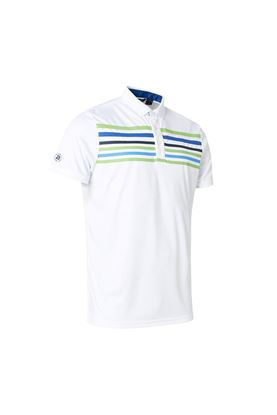 Show details for Abacus Men's Louth Polo Shirt - White / Blue
