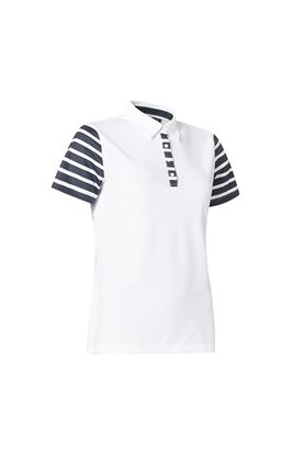 Show details for Abacus Ladies Anne Polo Shirt - Stripes 725