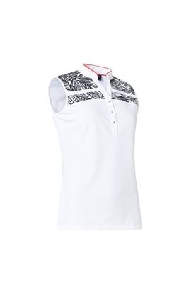 Show details for Abacus Ladies Anne Sleeveless Polo Shirt - Palm 530