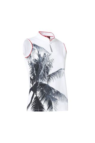 Picture of Abacus Ladies Merion Sleeveless Polo Shirt - White 100
