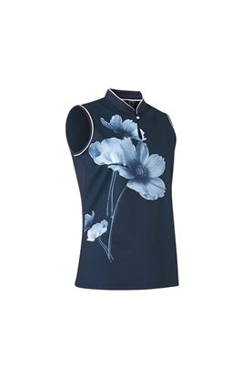 Show details for Abacus Ladies Merion Sleeveless Polo Shirt - Navy