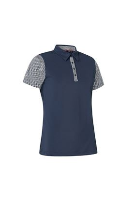Show details for Abacus Ladies Anne Polo Shirt - Navy / White 389