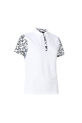 Show details for Abacus Ladies Anne Polo Shirt - Black / White 620