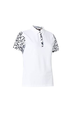 Picture of Abacus Ladies Anne Polo Shirt - Black / White 620