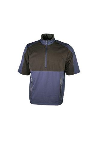 Picture of Callaway Men's 1/2 Sleeve Block Wind Jacket - Peacoat / Caviar 485