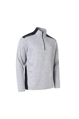Show details for Abacus Men's Sunningdale half Zip Sweater - It Grey / Black