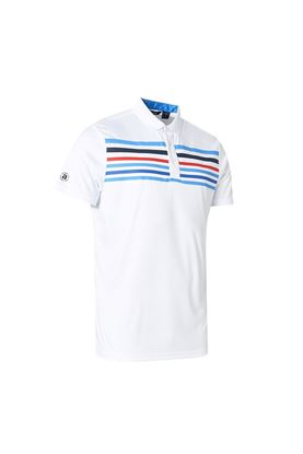 Show details for Abacus Men's Louth Polo Shirt - White / Navy